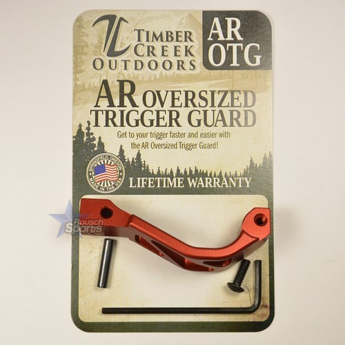 Timber Creek Outdoors Skeletonized Oversized Trigger Guard RED Anodized AR 15 M16 M4 Best Austin Discount AR Parts and accessories Austin Texas Build your custom AR today
