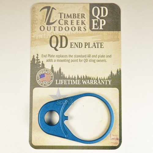 QD Quick Detach End Sling PLATE Swivel Mount ANODIZED BLUE QD EP By Timber Creek Outdoors .223 5.56 .308 RED AR 15 M4 M16 Best Discount Wholesale AR Parts and Accessories Austin Texas