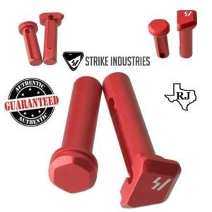 Strike Industries ULTRA LIGHT Enhanced Extended Take Down Front and Rear Pins RED .223 5.56 AR 15 M4 M16 Best Discount Wholesale AR Parts and Accessories Austin Texas