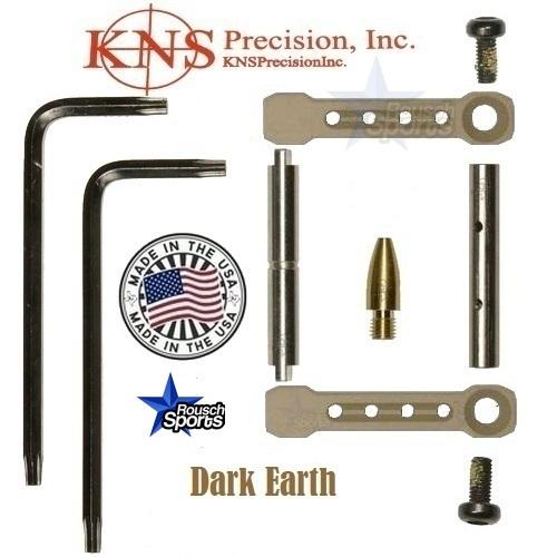KNS Pins Anti Walk Pins Non Rotating Gen ST Spike's Side Plates Dark Earth Tan