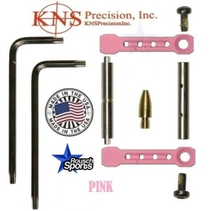 KNS Pins Anti Walk Pins Non Rotating Gen ST Spike's Side Plates PINK .223 5.56 .308 AR 15 M4 M16 Best Discount Wholesale AR Parts and Accessories Austin Texas 1 .223 5.56 .308 AR 15 M4 M16 Best Discount Wholesale AR Parts and Accessories Austin Texas Stainless Steel