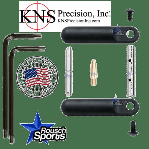 KNS Pins Anti-Walk Pins Non-Rotating Gen Northrop Side Plates BLACK