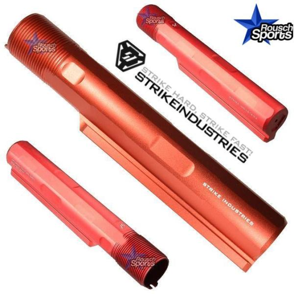 Strike Industries Advanced Receiver Extension Buffer Tube Red Anodize AR 15 10 M 4 16 Mil-Spec Austin Texas USA