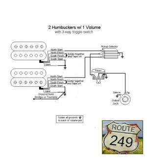 Wiring Two Humbuckers with One Volume Knob  Route 249
