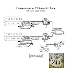 First Act Guitar Wiring Diagram Power Wheels Kawasaki Two Humbuckers With Volumes And One Tone - Route 249