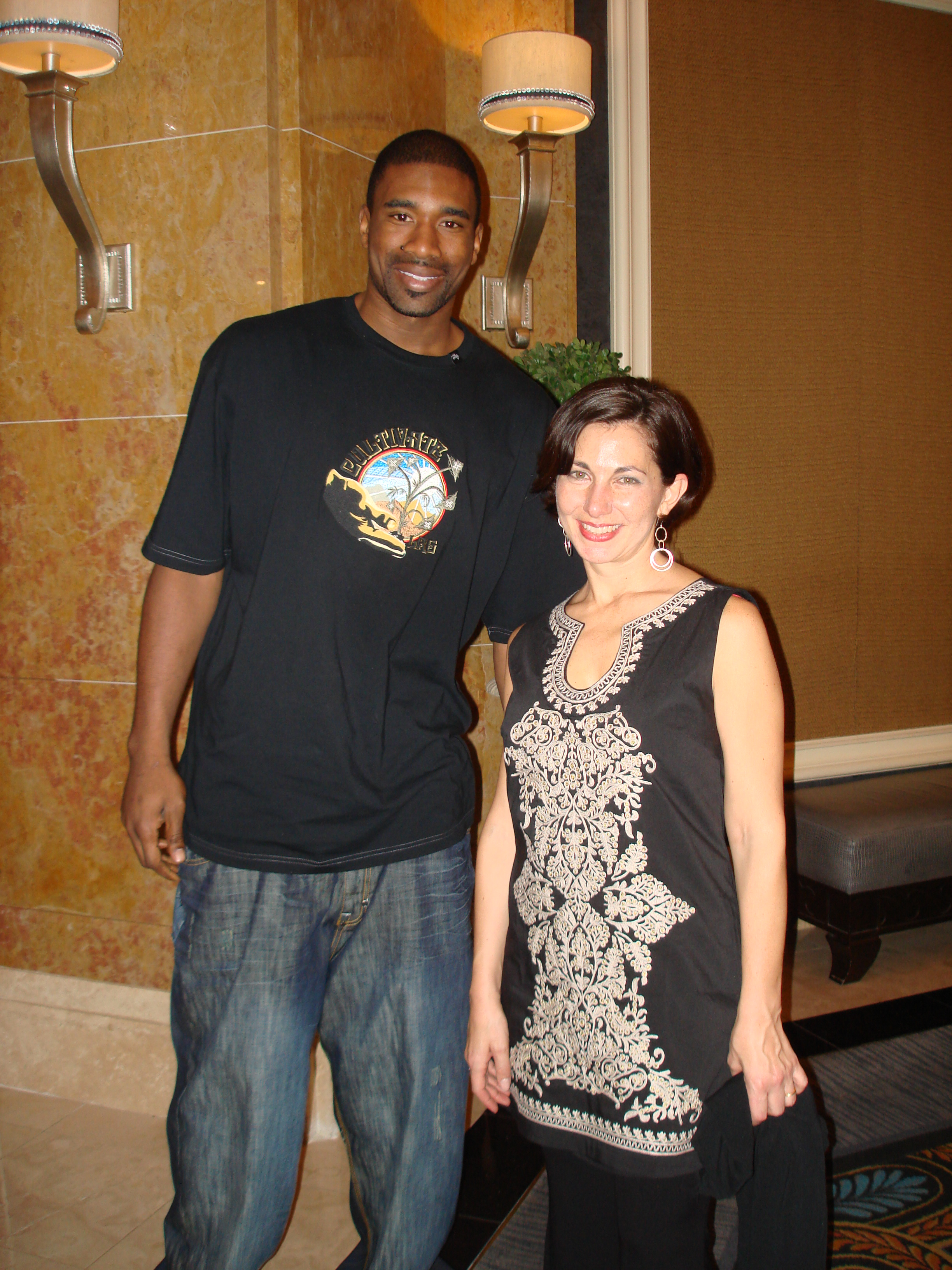 Leon Powe and my wife