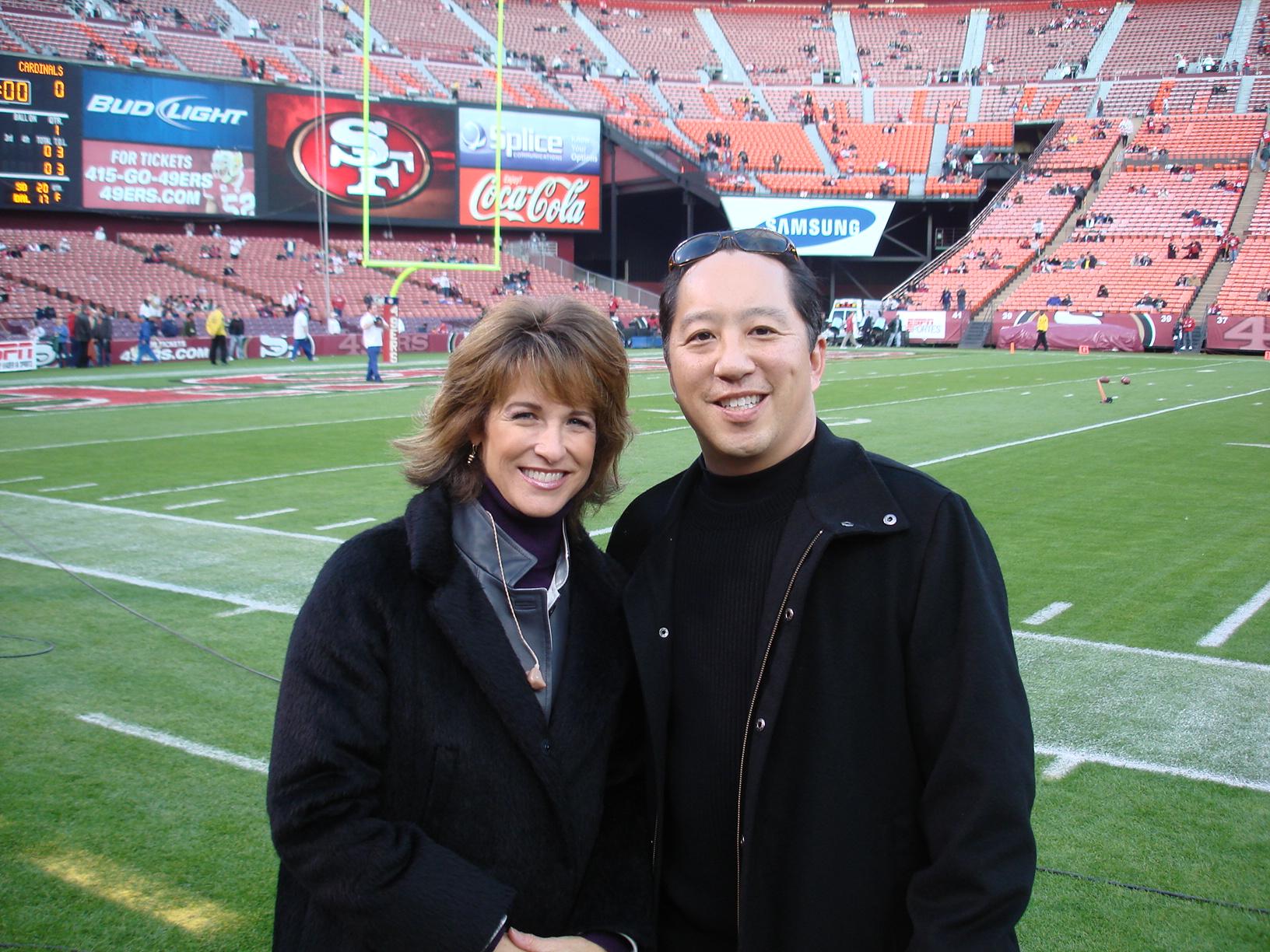 With ESPN's Suzy Kolber