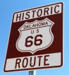 Route 66 shield. Oklahoma
