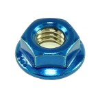 Candy Blue Powder Coated Flange Nut