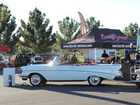 57 Chevy at Barrett Jackson
