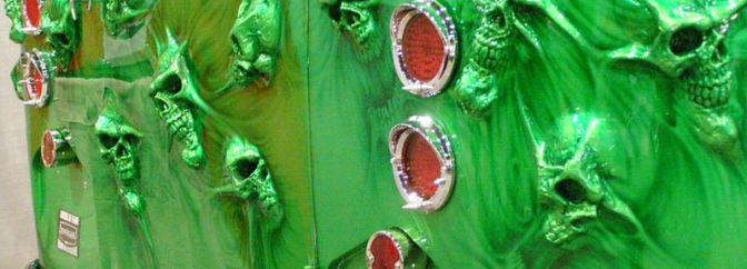 skulls in van