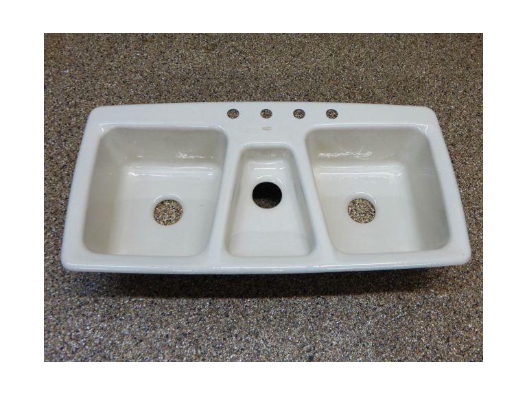 large kohler enameled cast iron sink
