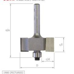 Steel Chair Joints Leap Office Whiteside Rabbeting (rebate) Router Bit | Routercutter