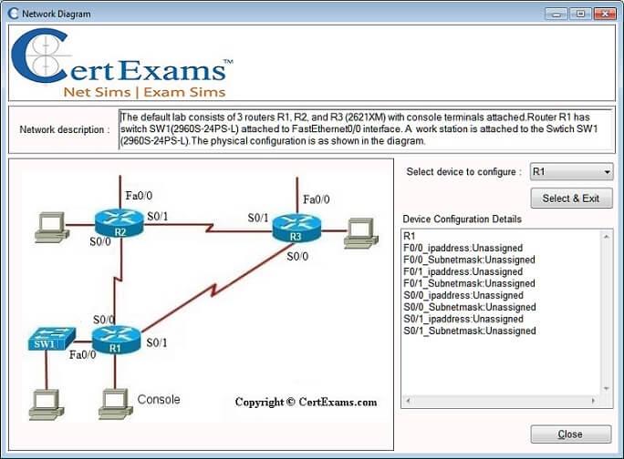 Router Simulator Network Diagram