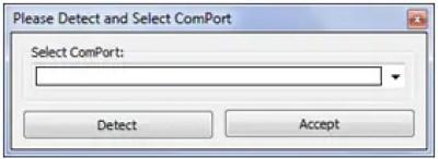 Select com port - Huawei modem code writer by segamaster