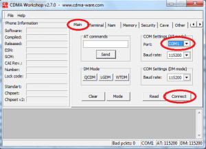 CDMA workshop tool