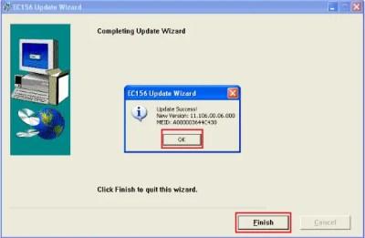 CDMA modem firmware update - Finish