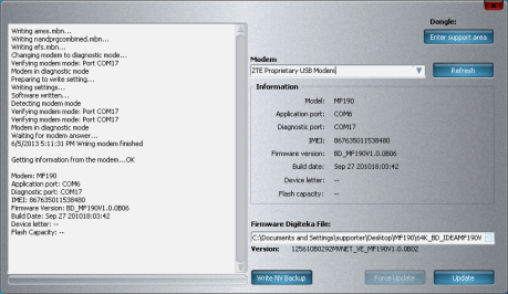 DC-Unlocker - ZTE Qualcomm Writer v.0.0.0.9