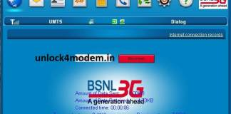 BSNL ZTE MF180 modem connection manager