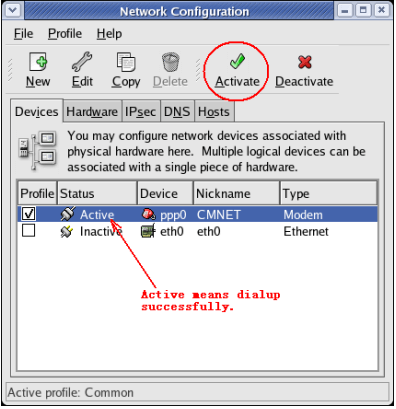 Network Connection - Active