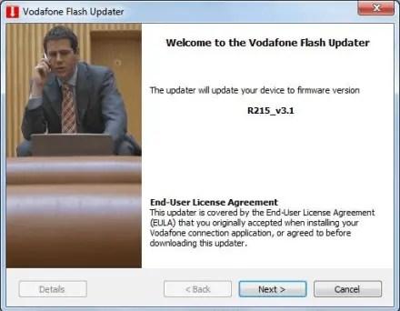 R215 firmware update - Vodafone Flash Updater