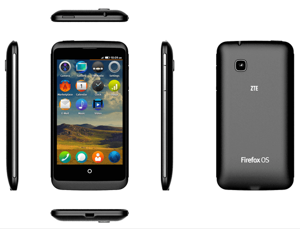 ZTE Open C Firefox OS Smartphone - dimensions