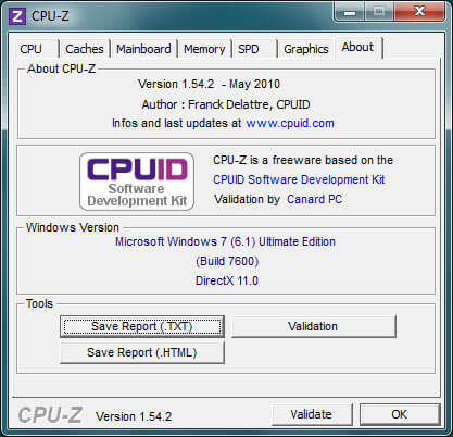 CPU-Z about
