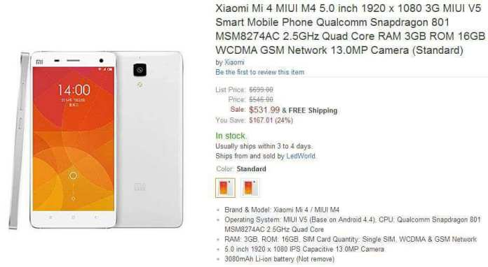 Xiaomi Red Rice 4
