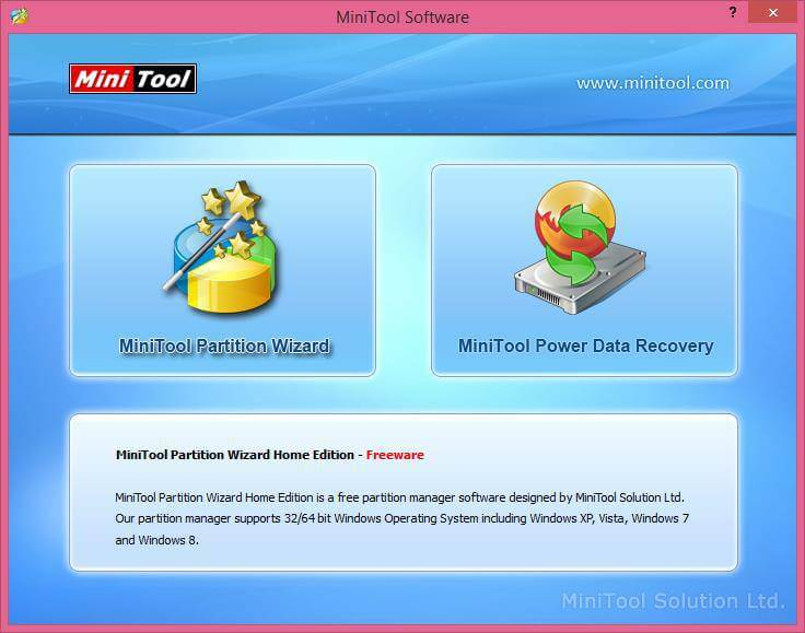 Minitools partition wizard home edition   MiniTool Partition