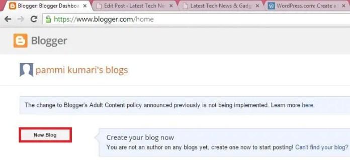 Blogger - Login