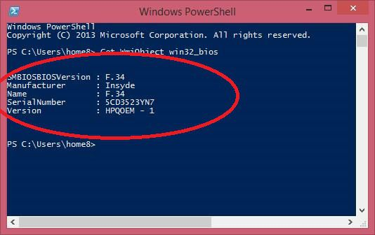 PowerShell - To get BIOS Versions