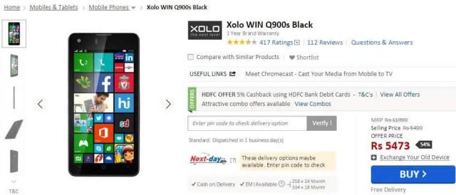 Xolo Win Q900s Price Cut