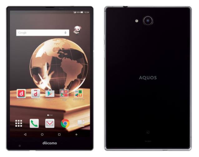 Sharp Aquos Pad SH-05G - Front and Back