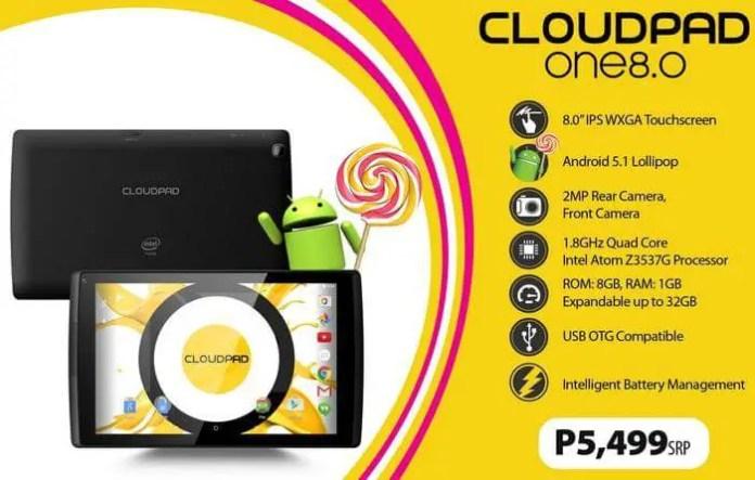 CloudFone CloudPad One 8.0