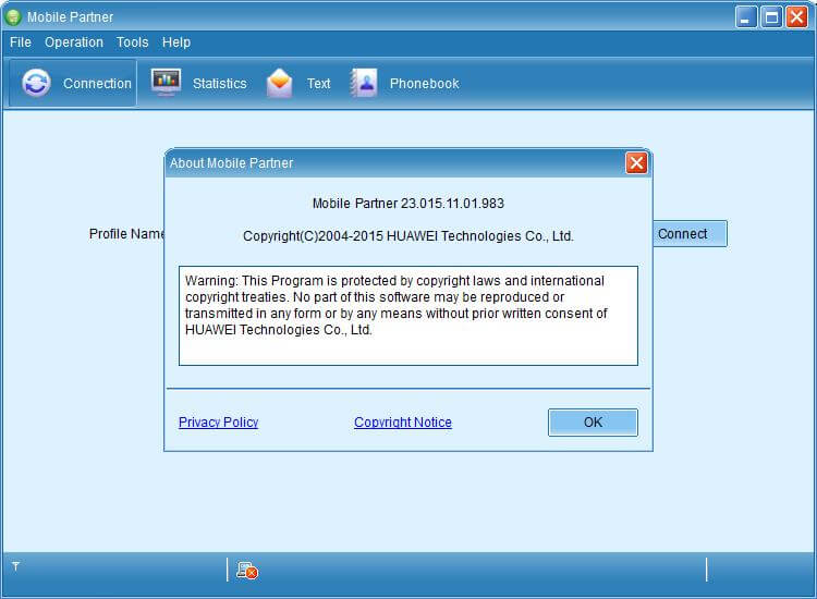 Download Huawei Mobile Partner 23.015.11.01.983 Free for Mac 10.11 & Win 10