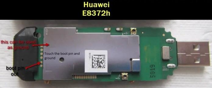 Huawei E8372h Boot Pin