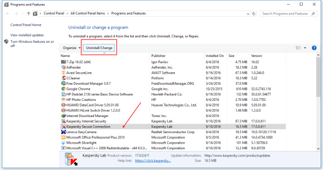 kaspersky-secure-connection-uninstall