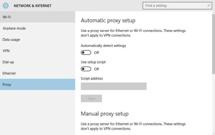 detect proxy usage