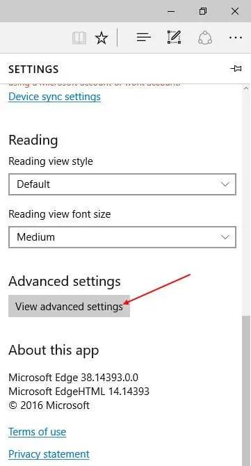 view-advanced-settings