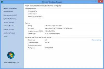 Ultimate Windows Tweaker v 2.2 for Windows 7 and Windows Vista