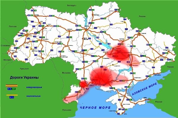 Photo of Список закрытых дорог, карта 2014