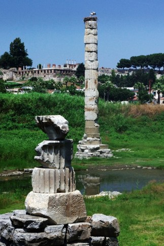 The Temple of Artemis - only one pillar and some ruins left