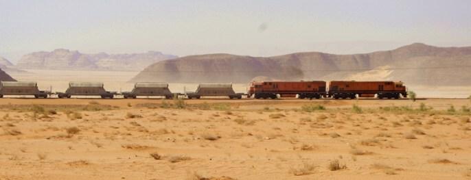 train on the desert