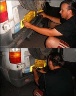 Installing new number plates