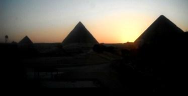 Giza at the sunset