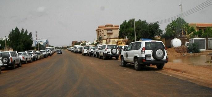 lot of UN cars