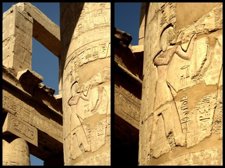 Pillars of the Great Hypostyle Hall from the Precinct of Amun-Re