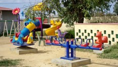 first proper playground for kids !