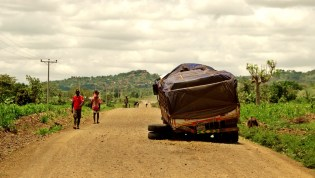 every car/ truck can get a puncture on gravel roads
