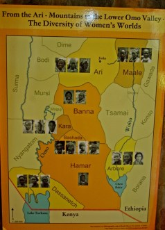 This map shows location of particular ethnic groups in Omo valley
